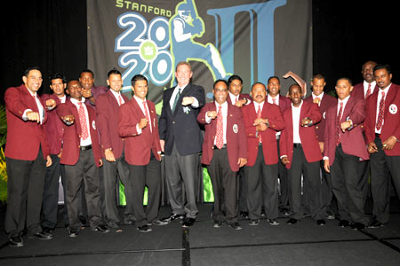 Trinidad and Tobago team presented with exquisite Stanford